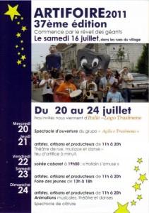Artifoire2011-Flyer01