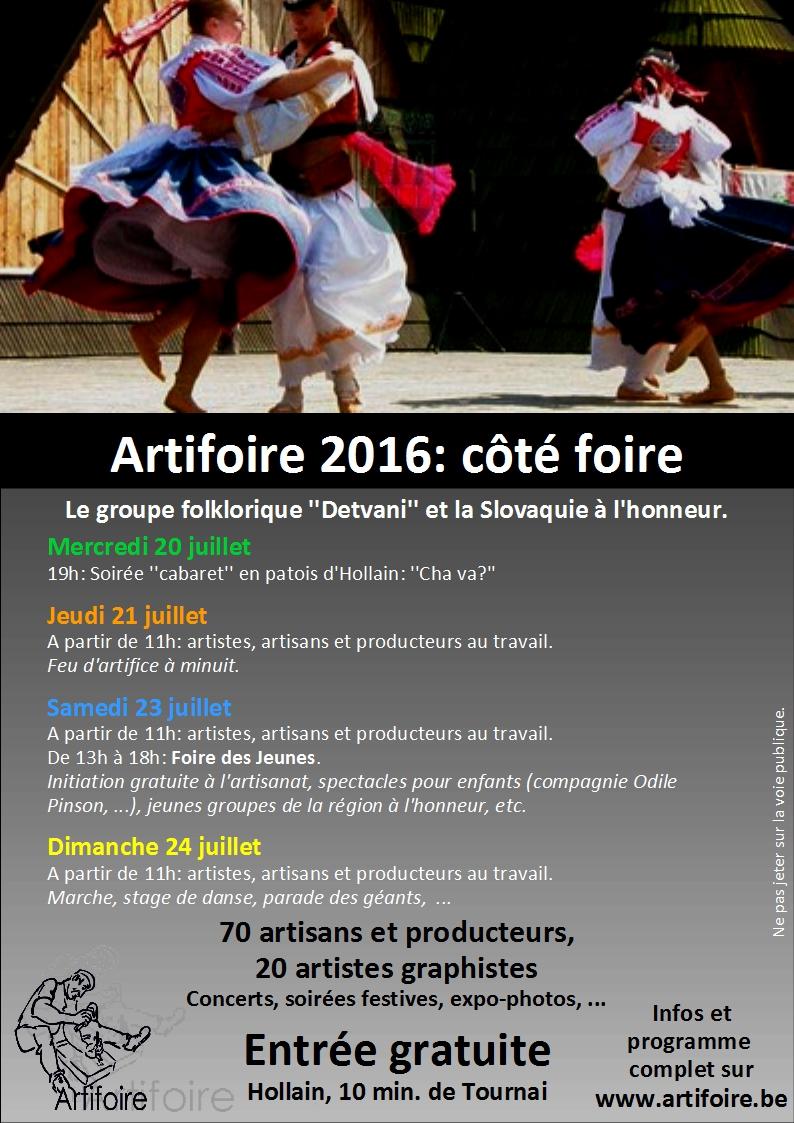 Artifoire - Flyer 2016-foire