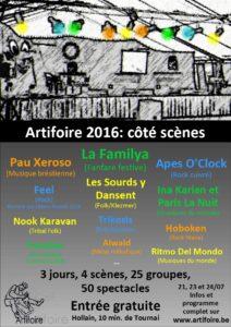 Artifoire - Flyer 2016-scènes